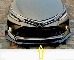 Toyota Corolla 2021 X Front Bumper Splitter Plastic