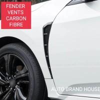 Honda Civic 2017-2021 CarbonFibre Texture Long Fender Vents ABS Plastic 02 Pcs