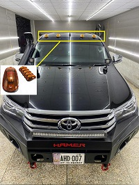 5pcs Amber LED Cab Roof Top Marker Running Lights For Jeep