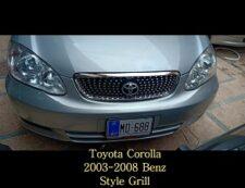 toyota corlla 2003-2008 benz style chrome grill