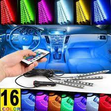 LED Car Interior Atmosphere Neon Lights Strip Wireless IR Remote Control