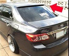 Toyota Corolla 2009-2014 Roof Spoiler Fibreglass Painted Black