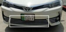 Toyota Corolla 2017-2019 Lower Grill Chrome Trims Stainless Steel