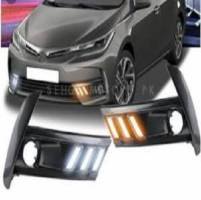 Mustang Style DRL Covers For Fog Lamp Toyota Corolla 2018-2019