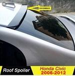 Rear Window Roof Spoiler For Honda Civic Reborn 2006-2012 (BLACK)