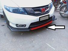 Bumper Splitter Cover For Honda City Lip Spoiler (Plastic) - 4 PCS