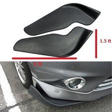 Black Universal Car Front Bumper Splitter Lip Bumper Deflector Spoiler Diffuser Canard Lip Protection 02 Pcs