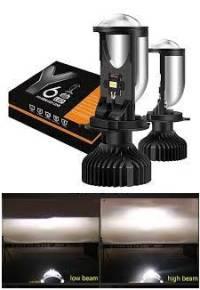 Car LED headlight Y6 H4 Hi/Lo Beam Mini Lens Light