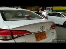 Toyota Yaris Ductail Style Trunk Spoiler Fibreglass Painted (White)
