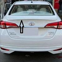 Toyota Yaris OEM Style Trunk Lip Spoiler Fibreglass (White)