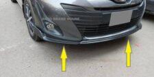 Toyota YARIS Front Bumper Splitter (Plastic) - 3PCS BLACK