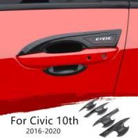 Honda Civic 2017-2018-2019-2020-2021 Outer Handle Bowls Carbon Fibre