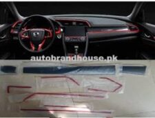Honda Civic 2017-2021 Dashboard Red/Carbonfibre Trim Set