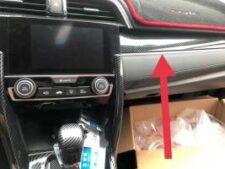 Honda Civic 2017-2021 Dashboard Carbon Fibre Cover Trim