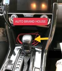 Honda Civic 2017-2021 Gear Knob Carbon Fibre Cover Trim