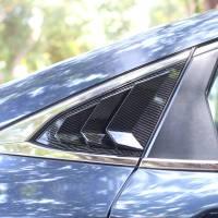 Honda Civic 2017-2021 Window Guarter Louver Covers Carbon Fibre