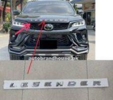 Toyota Fortuner Legender Monogram Alphabets