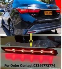 Toyota Corolla 2021 X Rear Bumper Arrow Style Reflectors